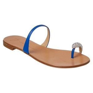 Giuseppe Zanotti Leather Toe Ring Sandal Size 8